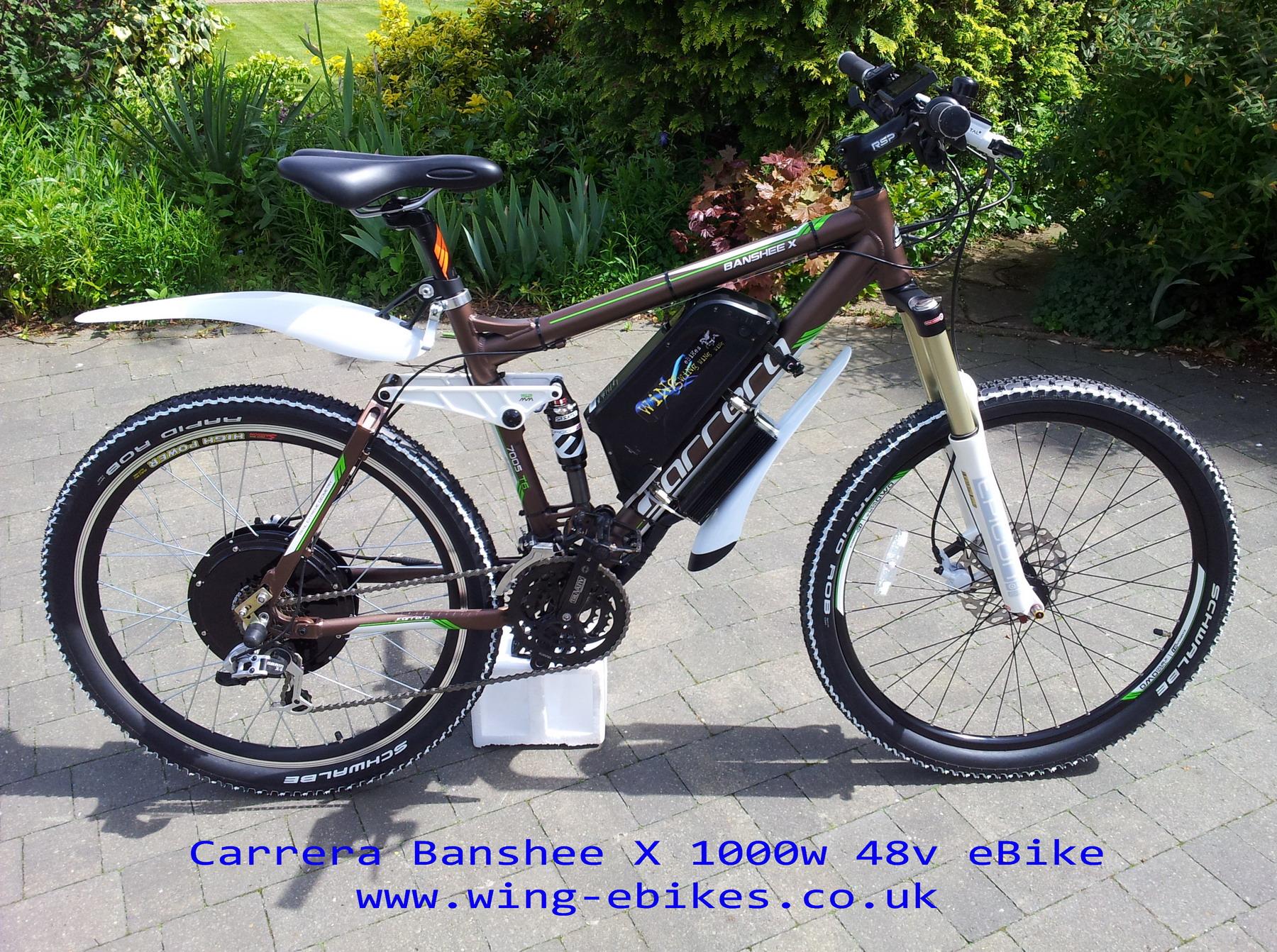 Www Carrera Banshee X Electric Bike 1000w 48v 1