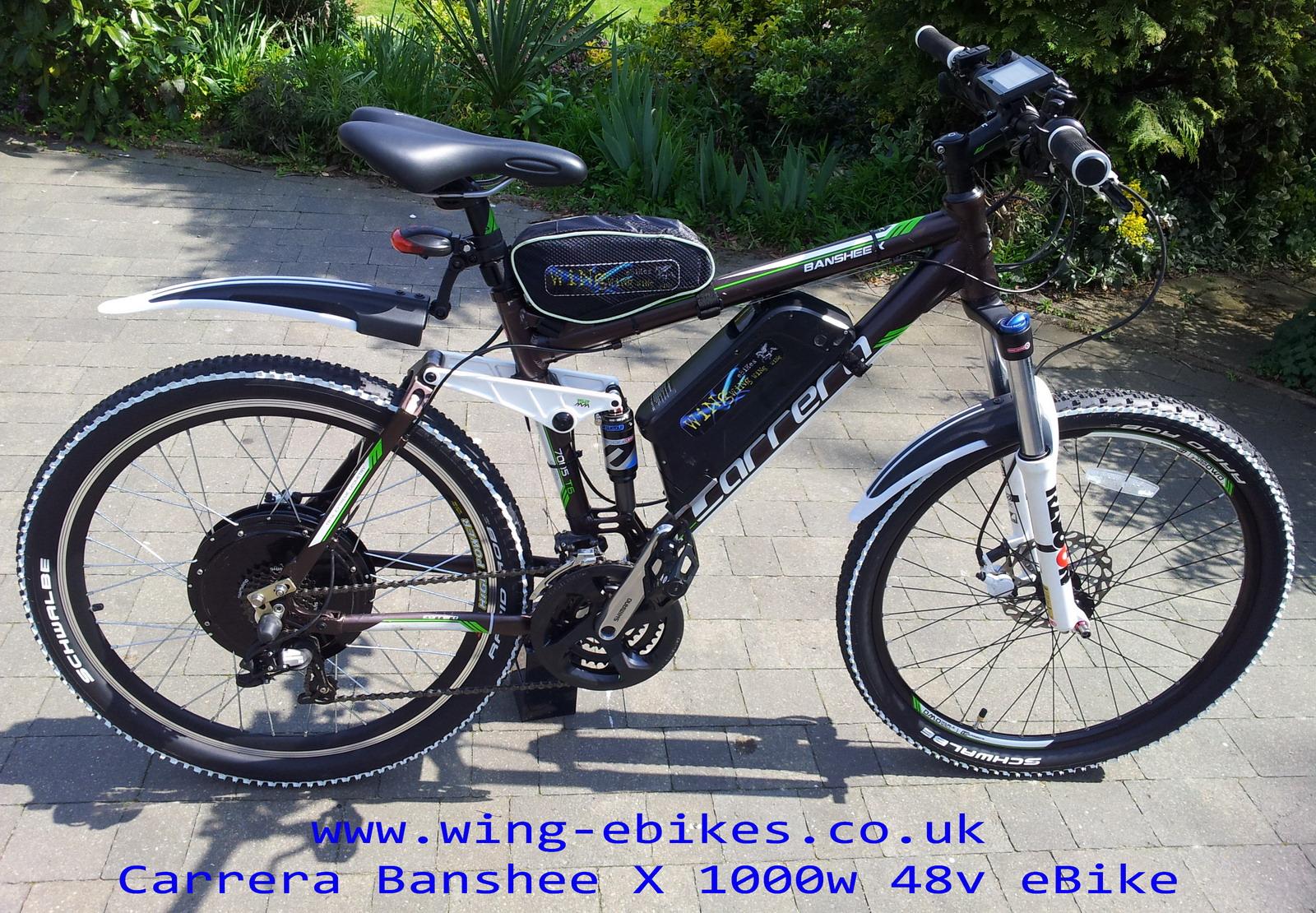www wing-ebikes co uk Carrera Banshee X Electric bike 1000w 48v